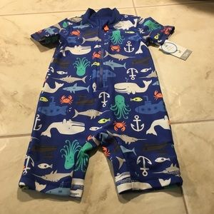 Baby Whale bodysuit for the water Brand new